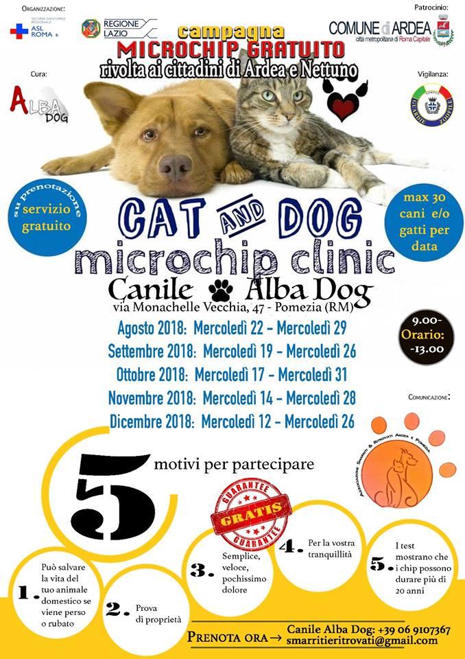 Campagna Microchip gratuito per Ardea e Nettuno